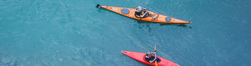 Option 1: A kayak at sea.